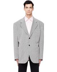 Raf Simons - Oversized Plaid Wool Jacket - Lyst