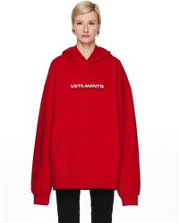 Vetements Red Haute Couture Hoodie