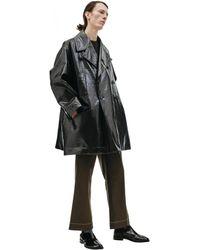 Maison Margiela Faux Leather Coat - Black