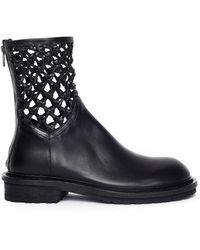 Ann Demeulemeester Net Ankle Boot Tucson Nero - Black