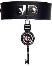 Vetements Leather Choker With Key - Black