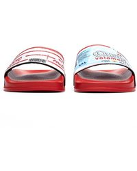Vetements Printed Slides - Red