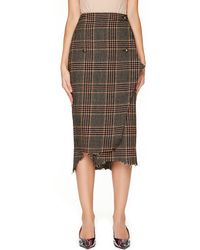 Vetements - Wool Checked Skirt - Lyst