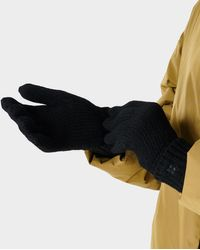 Sweaty Betty Texture Merino Knitted Gloves - Black