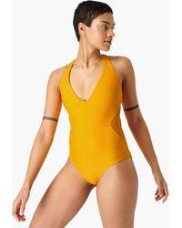 Sweaty Betty Carve Swimsuit - Yellow