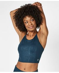 Sweaty Betty All Day Contour Cropped Workout Tank - Blue