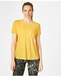 Sweaty Betty Ab Crunch Workout T-shirt - Yellow