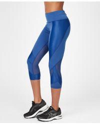 dc92992f62240 Sweaty Betty - Power Mesh Cropped Workout Leggings - Lyst