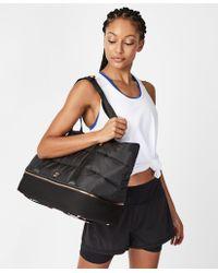 Sweaty Betty Icon Luxe Gym Bag - Black