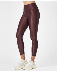 Sweaty Betty High Shine High Waisted 7/8 Workout Leggings - Purple