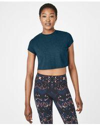 Sweaty Betty - Free Running Crop Workout T-shirt - Lyst