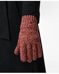 Sweaty Betty Texture Merino Knitted Gloves - Red