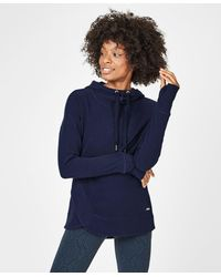 Sweaty Betty Escape Luxe Fleece Hoodie - Blue