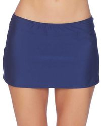 Athena - Solids A Line Skirt Color: Navy Size: S - Lyst