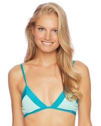 Splendid - Color Blocked Bralette Bikini Top - Lyst