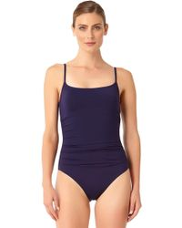 Anne Cole - Live In Color Shirred Lingerie Maillot One Piece Swimsuit - Lyst