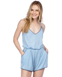 Lucky Brand | Hazy Days T Back Romper Swim Cover Up | Lyst