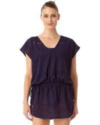 f41add3e762f3 Anne Cole - Crochet All Day Tunnel Tie V Neck Tunic Swim Cover Up - Lyst