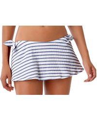 Anne Cole - Beach Bunny Tie Skirted Bikini Swim Bottom - Lyst