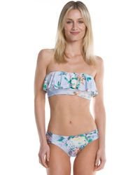 Becca - Femme Flora Shirred Tab Side American Swim Bottom - Lyst