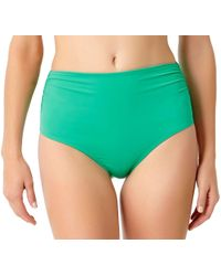Anne Cole - Live In Color High To Low Convertible Waist Shirred Swim Bottom - Lyst