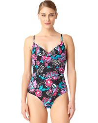 Anne Cole - Wrap Maillot One Piece Swimsuit - Lyst