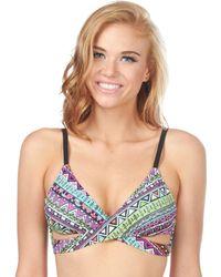 Bikini Lab - Don't Worry Be Strappy Faux Wrap Bra - Lyst