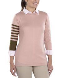 SwingDish Dalia Crewneck Sweater - Pink