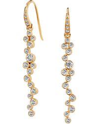 SYNAJEWELS Cosmic Diamond Cluster Earrings - Metallic