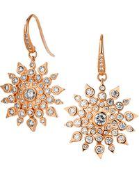 SYNAJEWELS Cosmic Diamond Starburst Earrings - Metallic