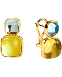 SYNAJEWELS Candy Sugarloaf Earrings - Metallic