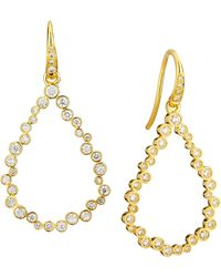 SYNAJEWELS Cosmic Tear Drop Diamond Earrings - Metallic