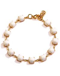 SYNAJEWELS Candy White Agate Bracelet - Metallic