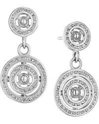 SYNAJEWELS Cosmic Concentric Circle Diamond Earrings - Metallic