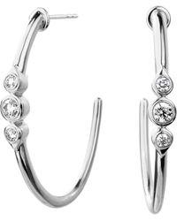 SYNAJEWELS Mogul Diamond Hoops - Metallic