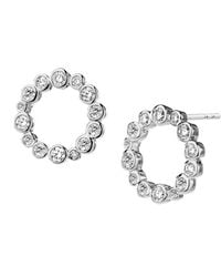 SYNAJEWELS Cosmic Diamond Circle Earrings - Metallic