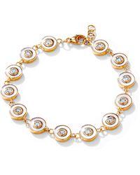 SYNAJEWELS Cosmic Mother Of Pearl Diamond Bracelet - Metallic