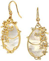 SYNAJEWELS Jardin Vineyard Diamond Earrings - Metallic