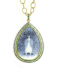 SYNAJEWELS Mogul Peacock Necklace - Multicolour