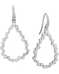 SYNAJEWELS Cosmic Tear Drop Diamond Earrings - Metallic