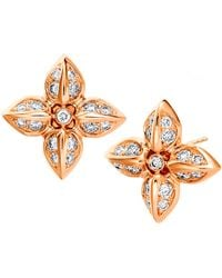 SYNAJEWELS Jardin Diamond Flower Studs - Metallic