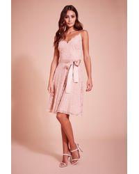 Tadashi Shoji Kendall Strap Lace Cocktail Dress - Pink
