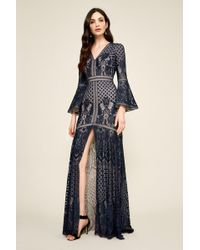ccf711bc7cfc5 Tadashi Shoji - B s Lace Gown With V-neck - Lyst