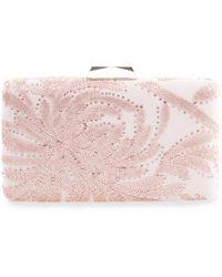 Tadashi Shoji Keina Chrysanthemum Embroidered Clutch - Pink