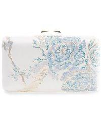 Tadashi Shoji Keidoro Embroidered Clutch - Blue