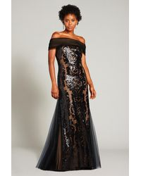 Tadashi Shoji - Melek Sequin-embroidered Tulle Gown - Lyst