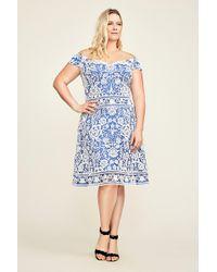 68f510ead4d Lyst - Tadashi Shoji Yama Dress in Blue