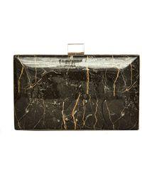 Tadashi Shoji Manal Marble Essence Clutch - Metallic