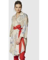 Roman - Cotton Wide Sleeve Wrap Dress - Lyst