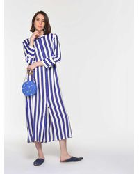 Roman Cabana Striped Maxi Dress - Blue